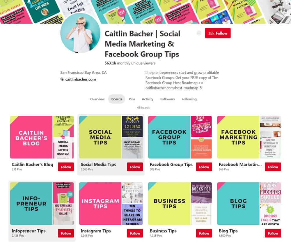 bright pinterest board covers